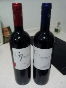 Picture here is the Cabernet Sauvignon and the Merlot.  Both highly recommended, I prefer cabs, but that is my taste.