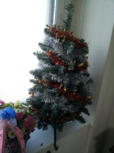 This was my Christmas Tree last year. It is smaller than it looks. It's not just god, it's good enough.